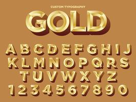 Golden Typography Design vector