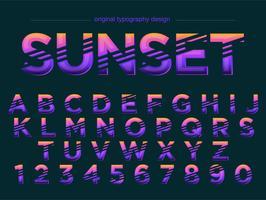 Abstracte paarse typografie