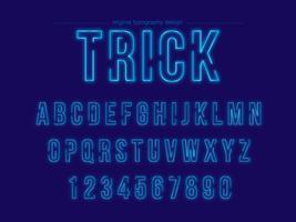 Blaue Neontypographie