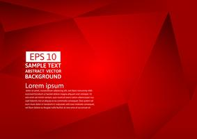 Abstract geometric red color background , Vector illustration eps10
