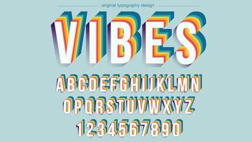 Design de tipografia colorida vintage