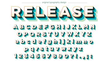 Colorful Typography Design with Shadows