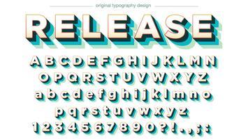 Conception de typographie colorée avec des ombres