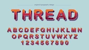 Diseño de tipografía colorida