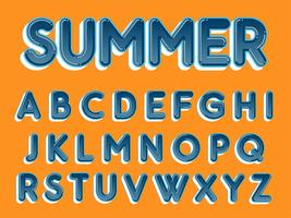 Blue Rounded Typography