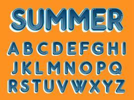 Typographie arrondie bleue