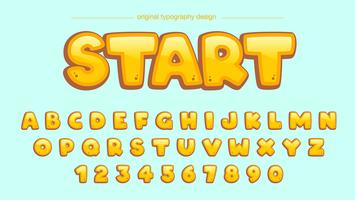 Cartoon Yellow Typography