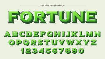 conception de la typographie audacieuse vert