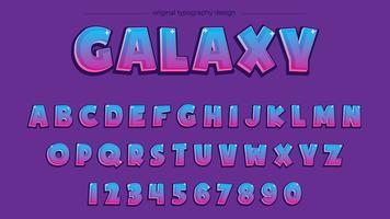 Tipografia roxa dos desenhos animados