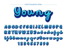 Blue Typography Design