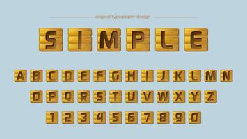 Tipografia de ladrilhos de madeira