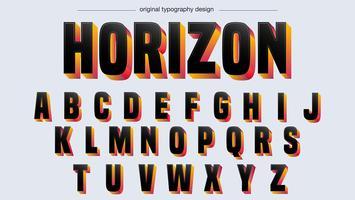 Typographie en gras noir