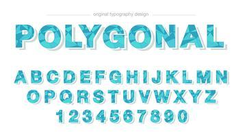 Design de typographie bleu bas poly