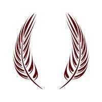 Kroonveer Logo Logo Template Design van de kroon. Vector EPS 10.