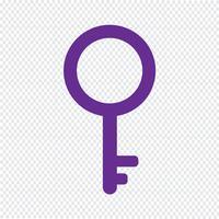 Schlüsselsymbol Vektor-Illustration