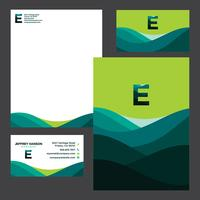 Colorful Green Business Stationery Template