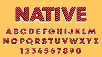 Red Zig Zag Stripes Typography
