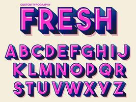 Bold Pink Retro Typography vector