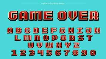 Typographie Red Pixel Square