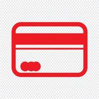 Ilustración de vector de icono de tarjeta de crédito