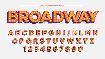 "Typographie ""Bold Orange Lights"" vecteur"