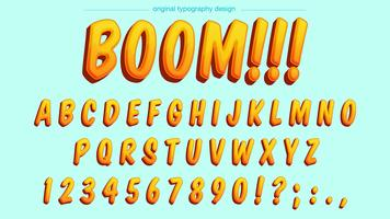 Yellow Cartoon Typography