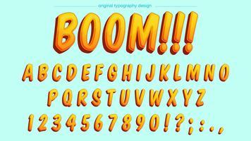 Typographie de dessin animé jaune