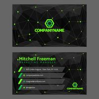 Black Green Dots Business Card