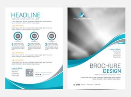 Brochure Layout template, cover design background vector