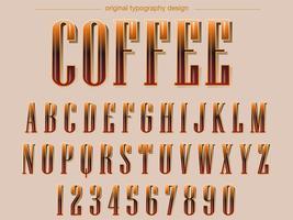 Brown färbt Serif-Typografie
