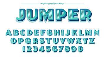 Typographie rétro bleu audacieux