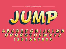 Mutige Karikatur-Gelb-Typografie