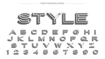Typographie abstraite de chrome