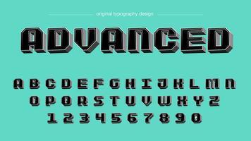 Typographie carrée 3D noire audacieuse