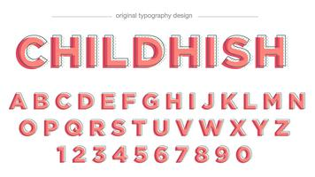 Tipografía abstracta rosa vector