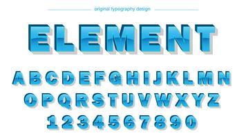 Typographie bleue brillante