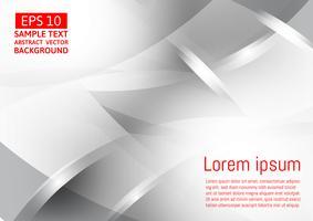 Geometrischer abstrakter Vektorhintergrund der grauen und silbernen Farbe, modernes Design