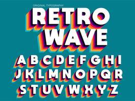 Typographie colorée vintage extra gras