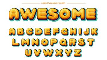 Comics Yellow Typography vector