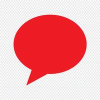 toespraak bubble pictogram vectorillustratie