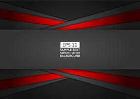 Rood en zwart geometrisch abstract modern ontwerp als achtergrond, Vectorillustratie