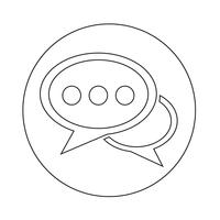 Toespraak bubble pictogram
