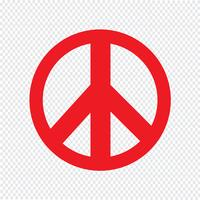 Peace sign icon vector illustration