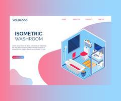 Concept de design d'intérieur d'un concept d'illustration isométrique de toilettes.