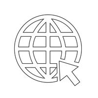 Ga naar website Internet pictogram vectorillustratie