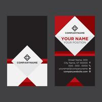 Black Red Business Card