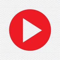 Jouer bouton icône Illustration vectorielle