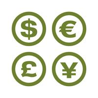 Set Currency Money Sign Logo Template Illustration Design. Vector EPS 10.