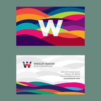 Colorful Curves Business Card