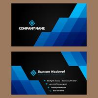 Black Blue Business Card